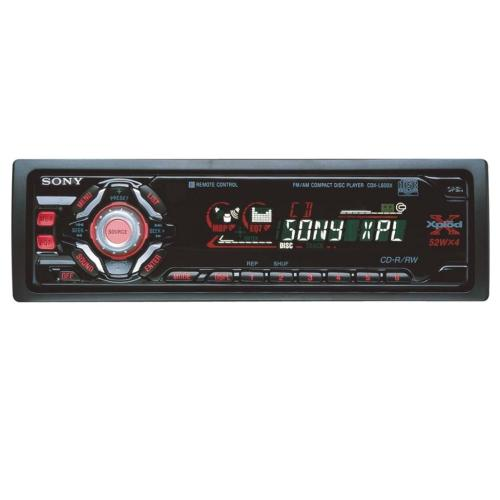 CDXL600X Fm/am Compact Disc Player
