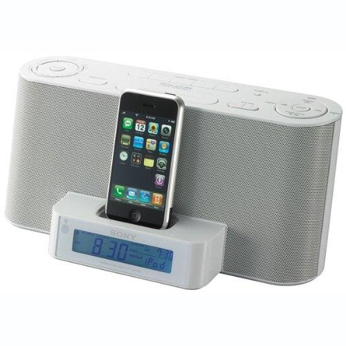 ICFC1IPMK2WHT Speaker Dock/clock Radio For Ipod And Iphone